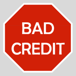 Bad Credit Sign